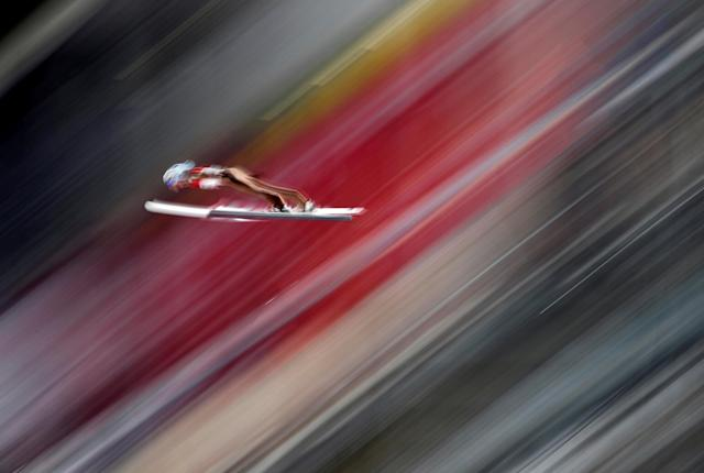 "Ski Jumping - Pyeongchang 2018 Winter Olympics - Men's Normal Hill Individual trial round - Alpensia Ski Jumping Centre - Pyeongchang, South Korea - February 10, 2018 - Dawid Kubacki of Poland competes. REUTERS/Dominic Ebenbichler SEARCH ""OLYMPICS BEST"" FOR ALL PICTURES. TPX IMAGES OF THE DAY."