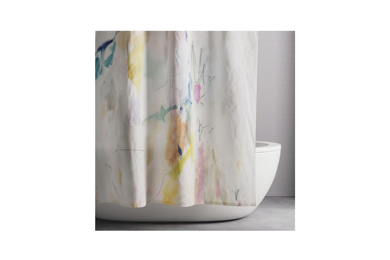 """$39, West Elm. <a href=""""https://www.westelm.com/products/organic-asha-shower-curtain-t5175/?pkey=cshower-curtains%7C4294959576&sku=8854942&group=1&isx=0.0.2665"""">Get it now!</a>"""
