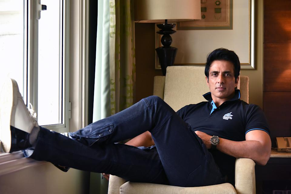 NEW DELHI, INDIA - MAY 2: (EDITOR'S NOTE: This is an exclusive image of Hindustan Times) Bollywood actor Sonu Sood poses during a profile shoot, on May 2, 2019, in New Delhi, India. (Photo by Sarang Gupta/Hindustan Times via Getty Images)
