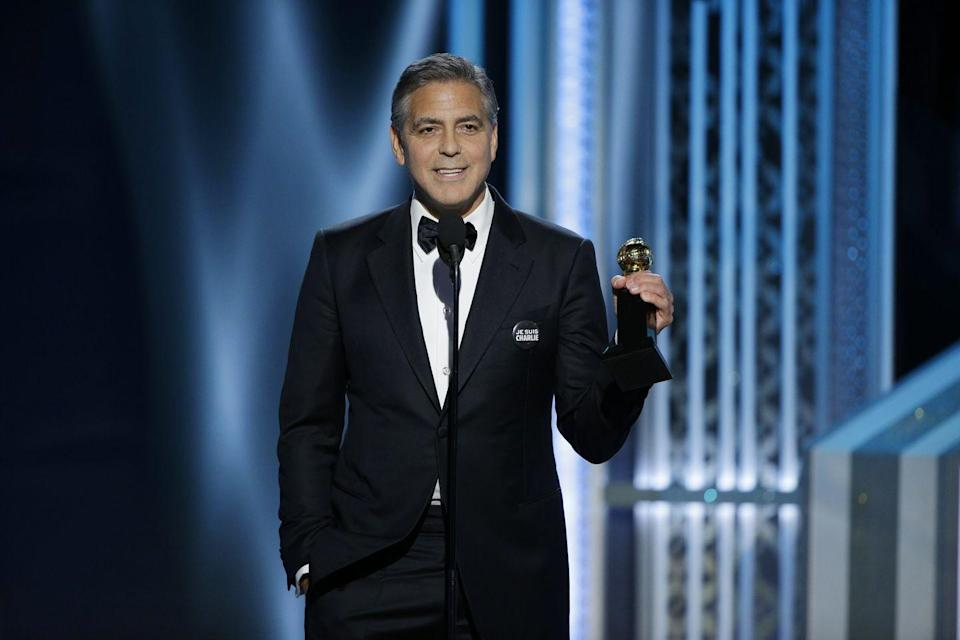 <p>Clooney wins the Cecil B. Demille Award for Lifetime Achievement at the 72nd Golden Globes on January 11, 2015 in Beverly Hills, California.</p>