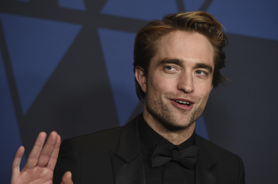 Robert Pattinson arrives at the Governors Awards on Sunday, Oct. 27, 2019, at the Dolby Ballroom in Los Angeles. (Photo by Jordan Strauss/Invision/AP)