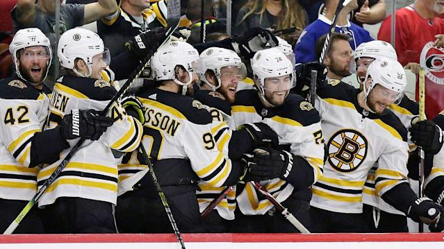 Boston easily handled Carolina in the Eastern Conference Final. (AP Photo/Gerry Broome, File)