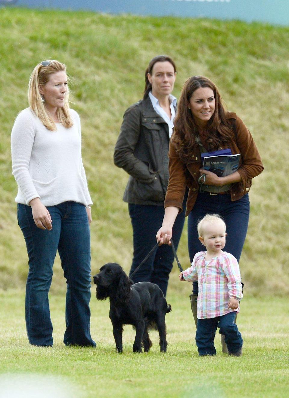 """<p>Prince William and Kate Middleton got Lupo, an adorable English Cocker Spaniel, in 2011—and for years, Lupo was a beloved member of the couple's growing family. Royal watchers were saddened to hear in November 2020 that the Cambridges' beloved dog had died. """"Very sadly last weekend our dear dog, Lupo, passed away. He has been at the heart of our family for the past nine years and we will miss him so much,"""" the Duke and Duchess wrote in a post on <a href=""""https://www.instagram.com/p/CH5l8xeF219/"""" rel=""""nofollow noopener"""" target=""""_blank"""" data-ylk=""""slk:Instagram"""" class=""""link rapid-noclick-resp"""">Instagram</a>.</p>"""