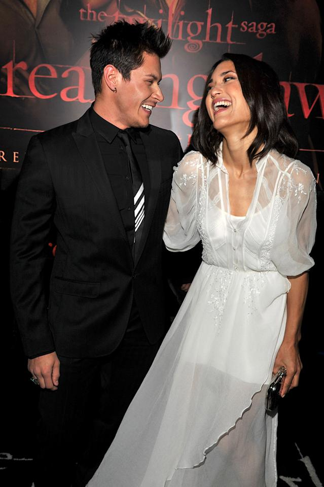 "<a href=""http://movies.yahoo.com/movie/contributor/1809690499"">Alex Meraz</a> and <a href=""http://movies.yahoo.com/movie/contributor/1808594424"">Julia Jones</a> at the Los Angeles premiere of <a href=""http://movies.yahoo.com/movie/1810158314/info"">The Twilight Saga: Breaking Dawn - Part 1</a> on November 14, 2011."