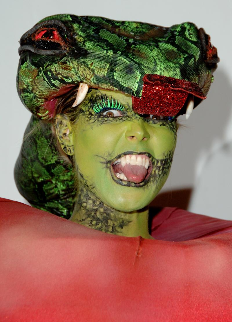 """Heidi Klum as the Bible's """"Forbidden Fruit"""" during 7th Annual Heidi Klum Halloween Party on October 31st, 2006. Photo courtesy of Getty Images."""