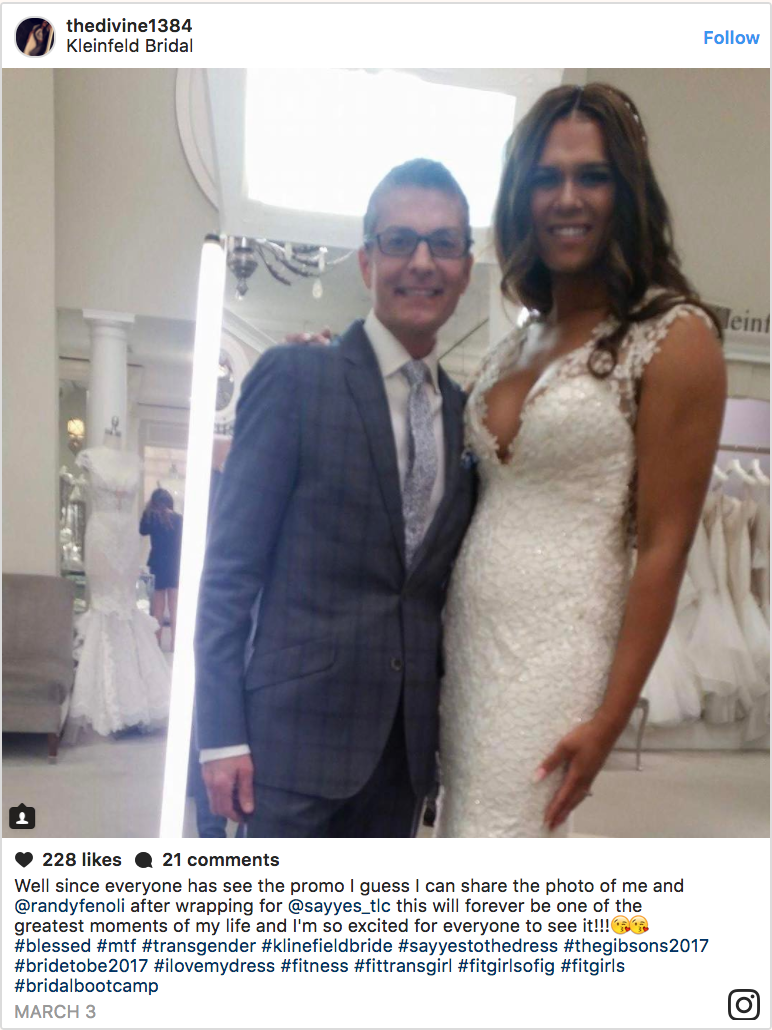 Gabrielle Gibson Becomes the First Transgender Bride to Appear on TLC's Say Yes to the Dress: New York