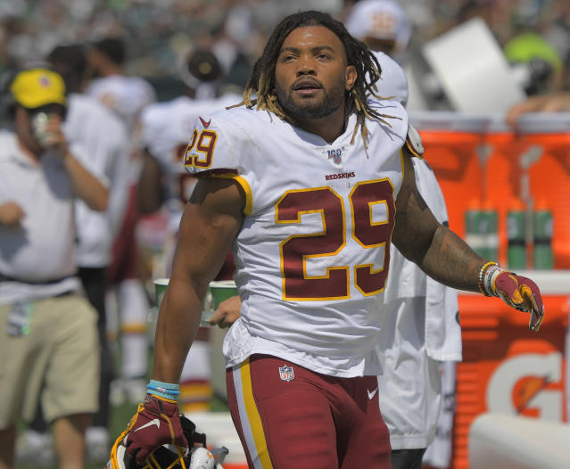 Redskins running back Derrius Guice now has a different knee injury after missing his entire rookie season. (Getty Images)