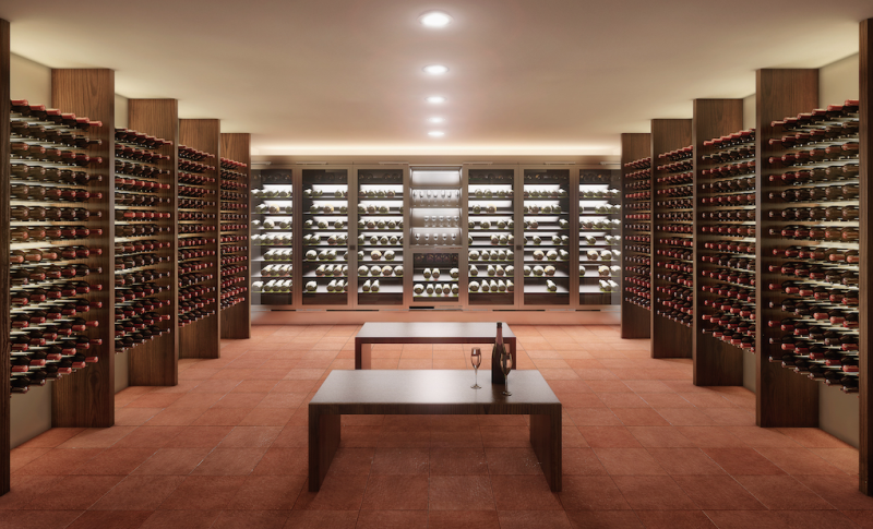 Wine cellar inside bunker. Image: The Oppidum