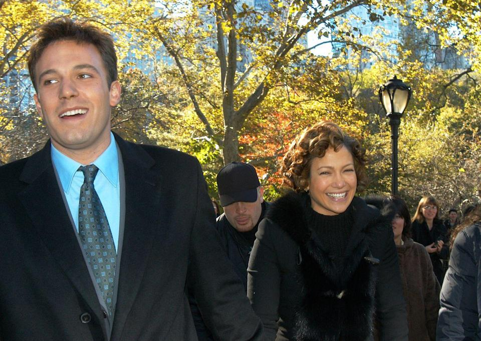 <p>Having a laugh on the set of Jersey Girl in Central Park. </p>