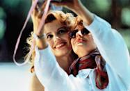"<p>When Ridley Scott's <em>Thelma & Louise</em> came out in 1991, it was the female buddy film that had been sorely missing for decades. It put a women-driven friendship at the center as it followed Geena Davis as Thelma and Susan Sarandon as Louise, who hit the road together. The ending is one of cinema's most adored—plus, the two characters practically invented the art of the selfie. </p> <p><em>Available to rent on</em> <a href=""https://www.amazon.com/Thelma-Louise-Harvey-Michael-Sarandon/dp/B00I2VE064"" rel=""nofollow noopener"" target=""_blank"" data-ylk=""slk:Amazon Prime Video"" class=""link rapid-noclick-resp""><em>Amazon Prime Video</em></a><em>.</em></p>"