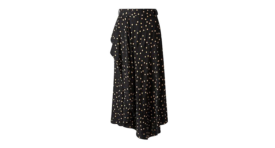 Scattered Dot On Stripe Skirt