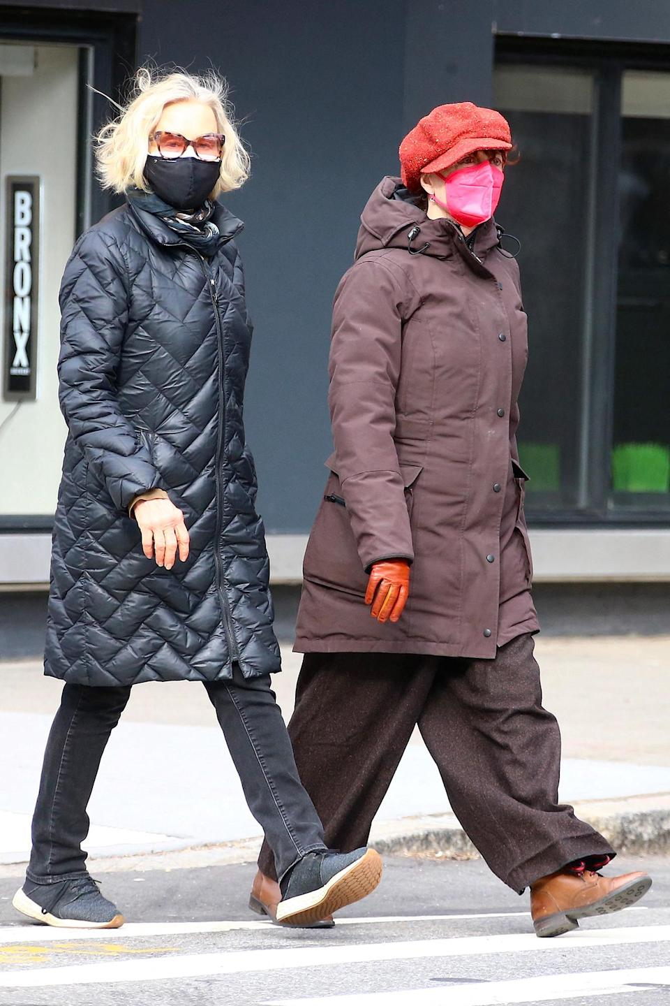 <p>Susan Sarandon and Jessica Lange were spotted walking together in New York.</p>