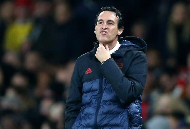 Unai Emery was sacked last month (Nigel French/PA)