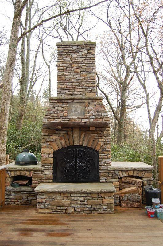 """<p>Now <em>this</em> is an outdoor fireplace! Before attempting a DIY project of this scale, consider consulting a professional.</p><p><strong>Get the tutorial at <a href=""""https://www.livingstonemasons.com/instructional/how-to-build-an-outdoor-fireplace"""" rel=""""nofollow noopener"""" target=""""_blank"""" data-ylk=""""slk:Living Stone Masonry"""" class=""""link rapid-noclick-resp"""">Living Stone Masonry</a>.</strong></p><p><a class=""""link rapid-noclick-resp"""" href=""""https://go.redirectingat.com?id=74968X1596630&url=https%3A%2F%2Fwww.walmart.com%2Fip%2FStanley-FatMax-43-572-72-Inch-Non-Magnetic-Level%2F15691447&sref=https%3A%2F%2Fwww.countryliving.com%2Fdiy-crafts%2Fg31966151%2Foutdoor-fireplace-ideas%2F"""" rel=""""nofollow noopener"""" target=""""_blank"""" data-ylk=""""slk:SHOP LEVELS"""">SHOP LEVELS</a></p>"""