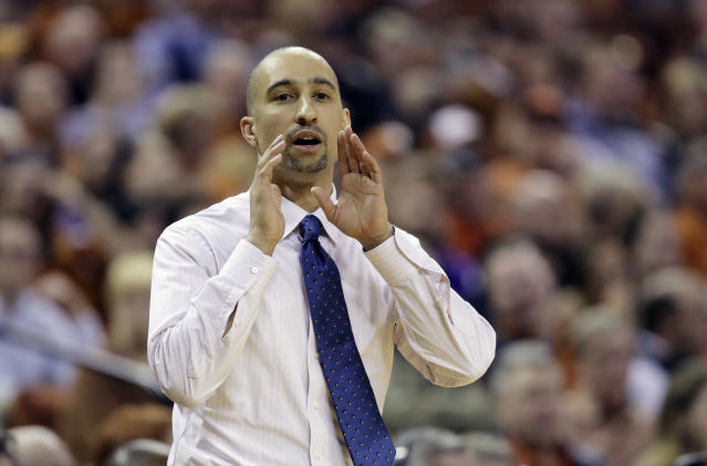 Shaka Smart and the Longhorns let their emotions show after a difficult day in Austin. (AP)