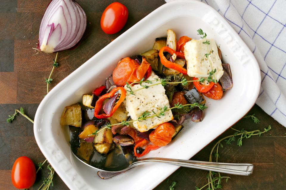 Roasted veg and feta (Andrew Bowden-Smith)