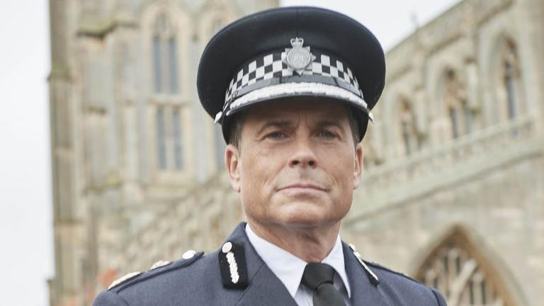 Rob Lowe plays a Miami cop who makes the move to Lincolnshire in cop drama 'Wild Bill' on ITV. (Credit: Matt Frost/ITV)