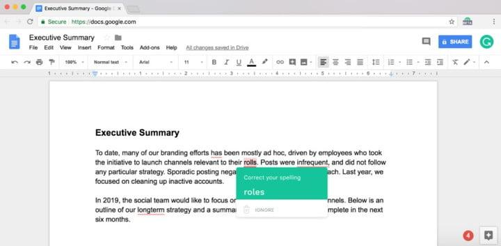 a i powered grammarly comes to google docs to improve your writing