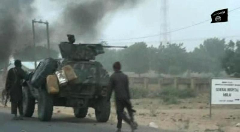Boko Haram still stages deadly attacks on military and civilian targets despite Buhari's insistence that the group is 'technically' defeated (AFP Photo/Handout)