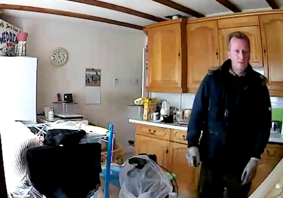 The two burglars were caught on CCTV (Picture: SWNS)