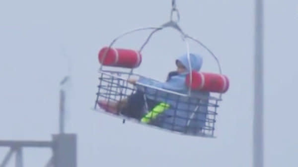Dramatic Footage Shows Woman And Child Rescued By Helicopter In Houston