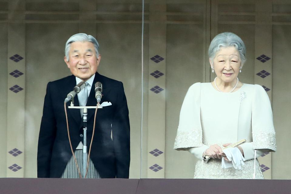 <p>Emperor Akihito and his wife, Empress Michiko Shōda, currently rule over Japan. The Japanese monarchy is reportedly the oldest hereditary monarchy in the world. <em>[Photo: Getty]</em> </p>