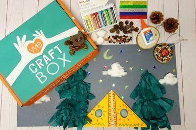 """Kids who love crafting will love <a href=""""https://fave.co/33RBVBr"""" target=""""_blank"""" rel=""""noopener noreferrer"""">We Craft Box</a>. The subscription service uses a theme every month (think holidays and different animals) that serves as the uniting idea behind the multiple crafts that are included. The kit also comes with instructions and all the materials for the crafts, excluding scissors. <a href=""""https://fave.co/33RBVBr"""" target=""""_blank"""" rel=""""noopener noreferrer"""">Monthly boxes are available for $25</a>, but they also come in bundles."""