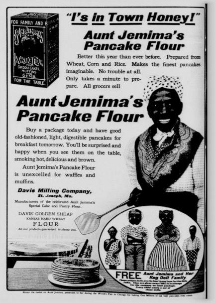 PHOTO: An Aunt Jemima ad featuring Nancy Green, the original Aunt Jemima, that was in the New York Tribune, Nov. 7, 1909. (New York Tribune via Library of Congress)
