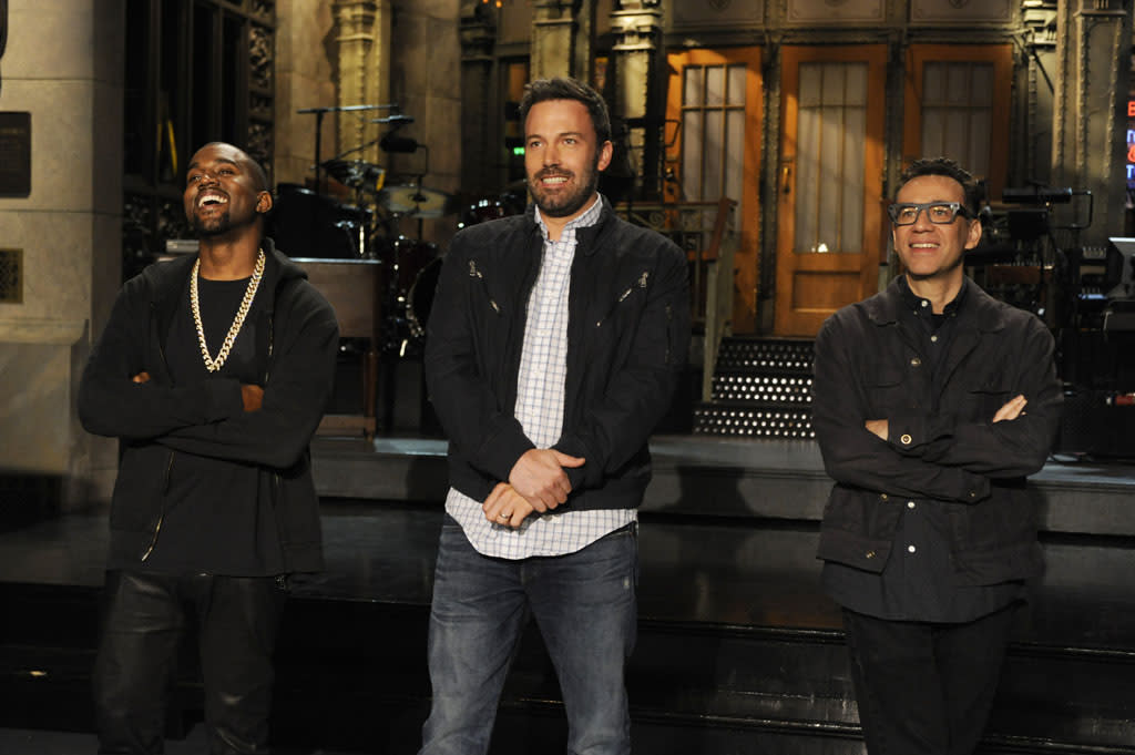 "Ben Affleck hosts the twenty-first episode of ""Saturday Night Live"" Season 38."