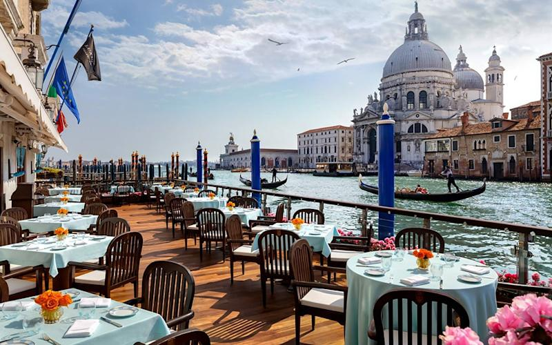 Gritti Palace occupies one of the loveliest spots on the Grand Canal