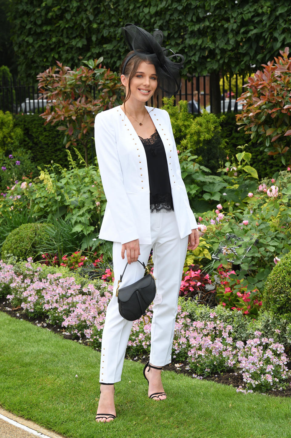 ASCOT, ENGLAND - JUNE 19: Helen Flanagan attends day two of Royal Ascot at Ascot Racecourse on June 19, 2019 in Ascot, England. (Photo by Karwai Tang/WireImage)