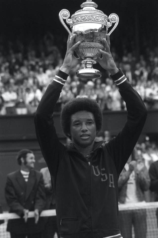 Late tennis great Arthur Ashe's family have requested that his statue be removed (PA)