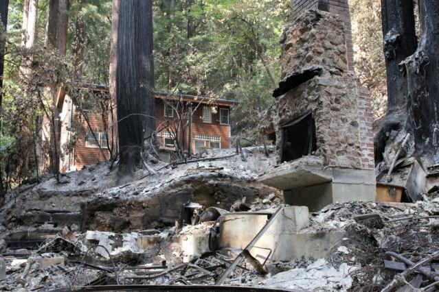 It made a lot of ash': California lightning fire torches family cabin
