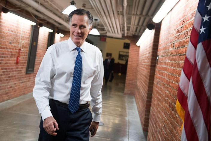 Sen. Mitt Romney, R-Utah, is seen in the Russell Building on the first day of the 116th Congress on Jan. 3. (Photo: Tom Williams/CQ Roll Call)