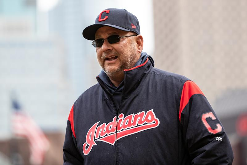 Cleveland Indians manager Terry Francona is in favor of a team name change. (Photo by Brace Hemmelgarn/Minnesota Twins/Getty Images)