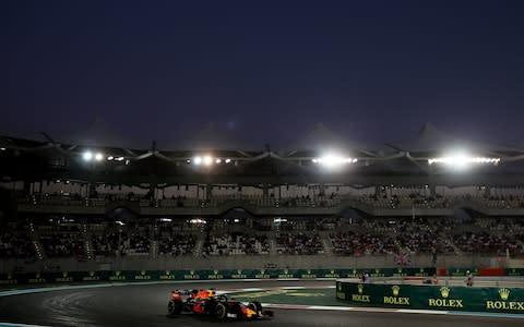 <span>Max Verstappen at the Abu Dhabi GP</span> <span>Credit: Getty Images </span>