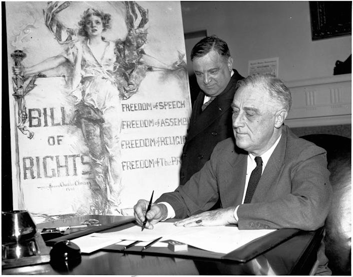 President Franklin D. Roosevelt first proposed a job guarantee in the 1940s. (Photo: Bettmann via Getty Images)