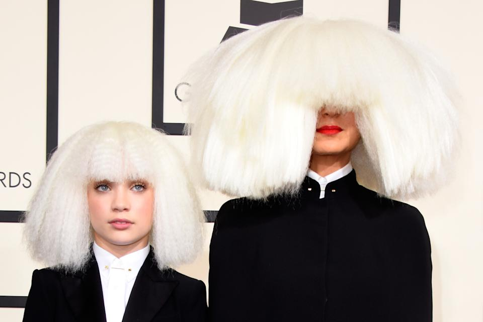 Dancer Maddie Ziegler (L) and singer/songwriter Sia