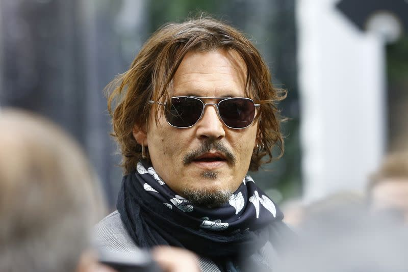 Actor Depp talks to the media at the 16th Zurich Film Festival in Zurich