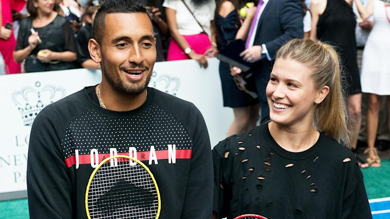 Nick Kyrgios and Eugenie Bouchard, pictured here at the Lotte New York Palace Invitational in 2017.