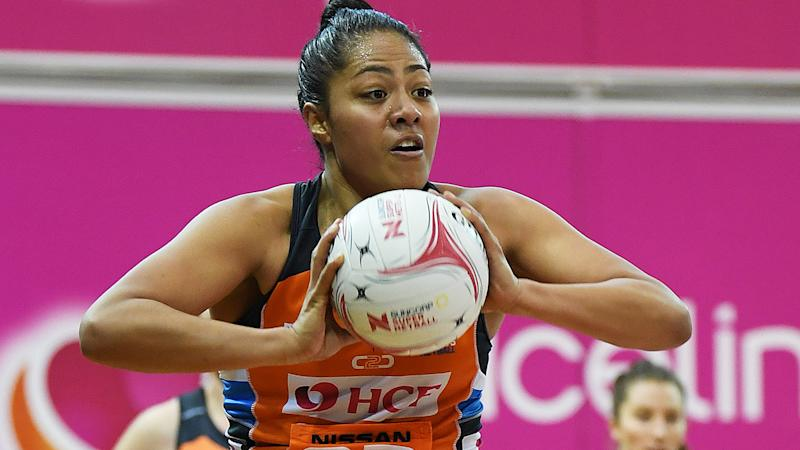 Kristiana Manu'a, pictured here in action for the Giants in Super Netball.
