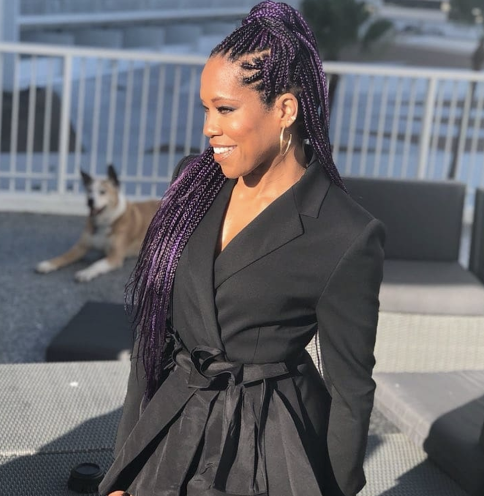 There's no age limit on box braids or multi-colored hair, as Regina King and her purple plaits remind us.