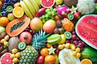 """<p>When it comes to eating more produce, you can't go wrong. Long story short: Every single fruit (and vegetable!) is a great option. <a href=""""https://www.ncbi.nlm.nih.gov/pmc/articles/PMC6448040/"""" rel=""""nofollow noopener"""" target=""""_blank"""" data-ylk=""""slk:Research"""" class=""""link rapid-noclick-resp"""">Research</a> has shown eating a minimum of four to five servings per day <a href=""""https://www.goodhousekeeping.com/health/diet-nutrition/g25017676/foods-improve-mood/"""" rel=""""nofollow noopener"""" target=""""_blank"""" data-ylk=""""slk:helps to boost mood"""" class=""""link rapid-noclick-resp"""">helps to boost mood</a> and reduce your risk of heart disease, obesity and type 2 diabetes. Yet according to the <a href=""""https://www.cdc.gov/media/releases/2017/p1116-fruit-vegetable-consumption.html"""" rel=""""nofollow noopener"""" target=""""_blank"""" data-ylk=""""slk:Centers for Disease Control and Prevention"""" class=""""link rapid-noclick-resp"""">Centers for Disease Control and Prevention</a> (CDC), only 10% of Americans eat enough fruit — about 1½ to 2 cups daily. Many of us also miss out on sufficient dietary fiber, calcium, potassium and magnesium, all of which are found in abundance in produce. <a href=""""https://www.goodhousekeeping.com/health/diet-nutrition/g2065/potassium-superfoods/"""" rel=""""nofollow noopener"""" target=""""_blank"""" data-ylk=""""slk:Potassium, for example"""" class=""""link rapid-noclick-resp"""">Potassium, for example</a>, helps maintain a healthy blood pressure and you'll get it easily in bananas, prunes and cantaloupe. The fiber in fruit also supports better digestion and fills you up for fewer calories, making it a smart choice for your health overall and can help <a href=""""https://www.goodhousekeeping.com/health/diet-nutrition/advice/a17162/lose-weight-faster-karas-0302/"""" rel=""""nofollow noopener"""" target=""""_blank"""" data-ylk=""""slk:if you're trying to lose weight"""" class=""""link rapid-noclick-resp"""">if you're trying to lose weight</a>. <br></p><p>Whether you choose fresh or frozen, make it your goal to get more fruit into every me"""