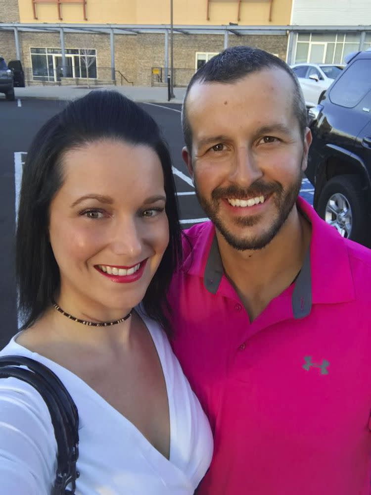 From left: Shanann and Chris Watts