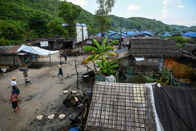 In Kyaukphyu, Rakhine state, Muslim residents have been forced to live in muddy camps for seven years after the inter-communal unrest tore apart western Myanmar (AFP Photo/Ye Aung THU)