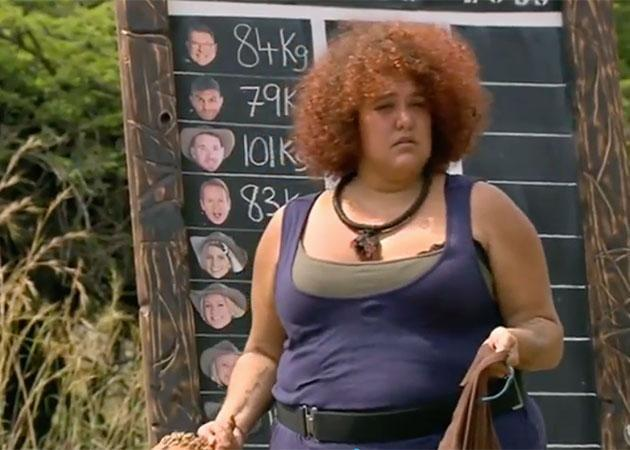 Casey has lost 17kg while in the jungle. Source: Channel 10