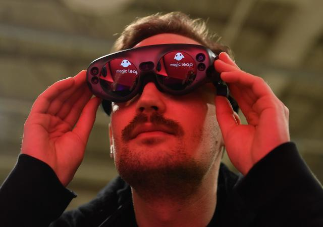 Toronto , Canada - 23 May 2019; Magic Leap Booth during day three of Collision 2019 at Enercare Center in Toronto, Canada. (Photo By Sam Barnes/Sportsfile via Getty Images)