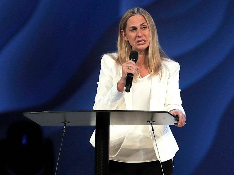 Heather Larson, lead pastor at the Willow Creek Commnity Church, says the church needs new leadership in the wake of sexual harassment allegations against Bill Hybels (Steve Lundy/Daily Herald via AP)