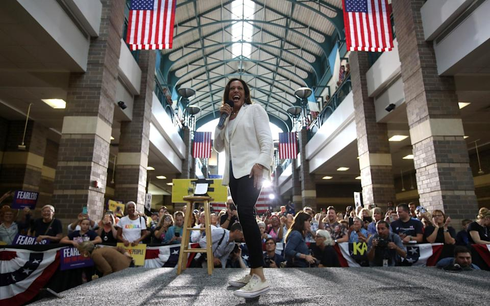 Harris has already been out on the campaign trail for Biden - GETTY IMAGES