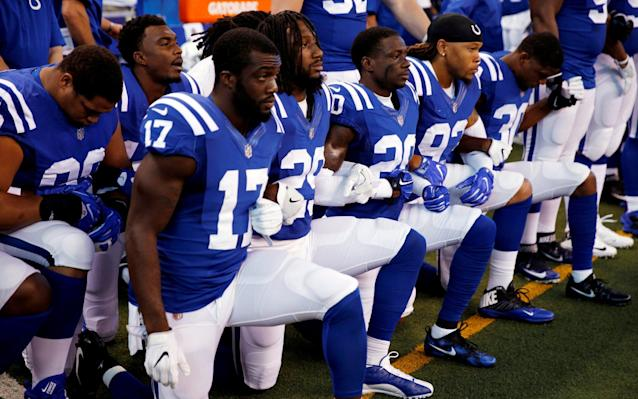 NFL protests were the story of Week 3. (AP)